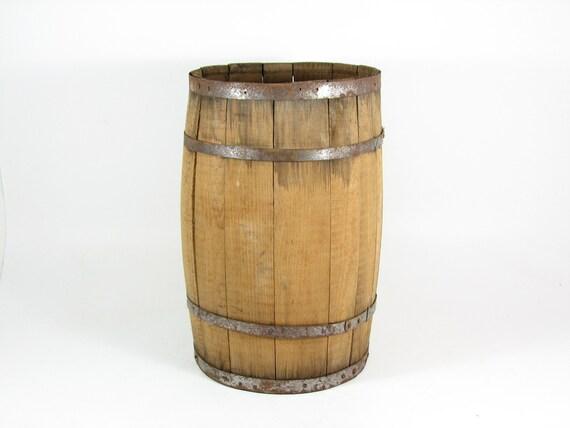 Vintage Wooden Barrel Wood Nail Keg Diy Table By