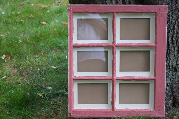 Items similar to vintage window picture frame 6 pane for Recycled window frames