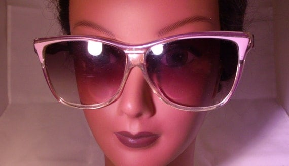 Vintage Sunglasses Oversized Sun Shades Big And Bold Gradient Tinted Made In Italy