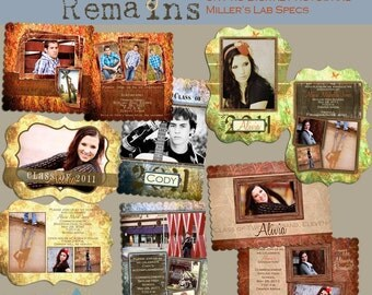 The Memory Remains Senior Graduation LUXE Announcement Collection- custom photo templates for