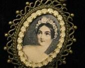 Classical Ballet Carlotta Grisi Giselle Portrait Fancy Bezel Necklace