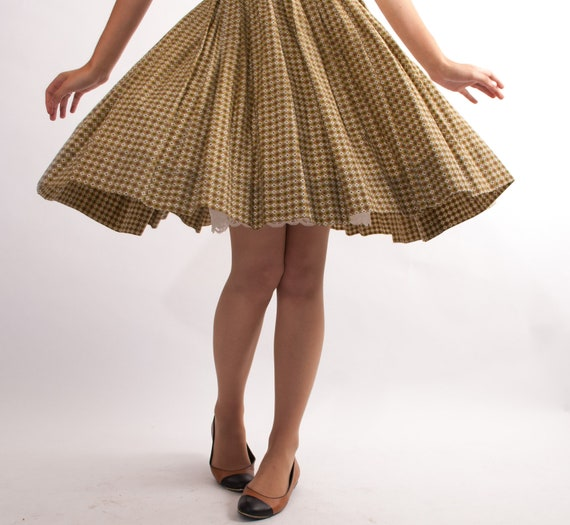 Vintage 1960s Full Skirt - 60s Circle Skirt - Muted Moroccan Print