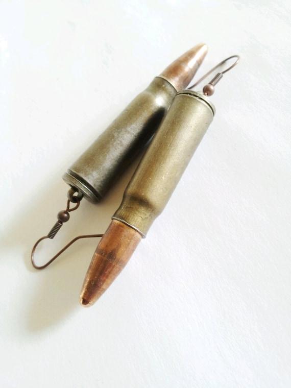 Vintage bullet earrings- statement earrings- The Zhania