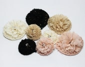 wholesale- 80mm-chiffon firecracker  flower-10pcs