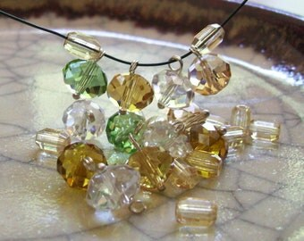 Autumn Harvest - Wired Drops and Beads - 24 beads