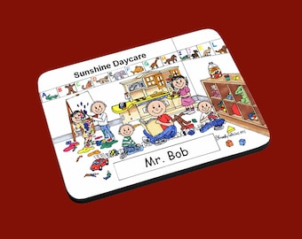 personalized Daycare Male image Mouse Pad