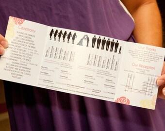 Silhouette Wedding Program Printable