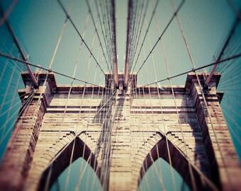 Brooklyn Bridge - New York - Brooklyn Bridge Art - Brooklyn Bridge Print - New York Art - Brooklyn - New York City - Large Wall Art