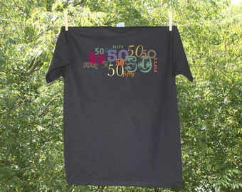 50th- Birthday Scoop, V-Neck or Tee