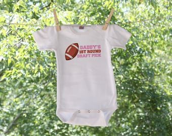 Daddy's First Round Football Draft Pick Infant Bodysuit