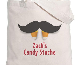 Halloween Tote // Candy Stache with Personalization