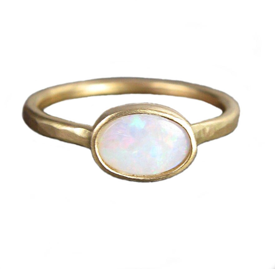 opal ring recycled 14k gold by christinemighion on etsy