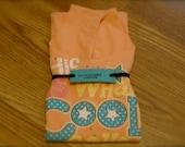 Recycled, upcycled, reusable Cool t-shirt Bag, market bag, project bag