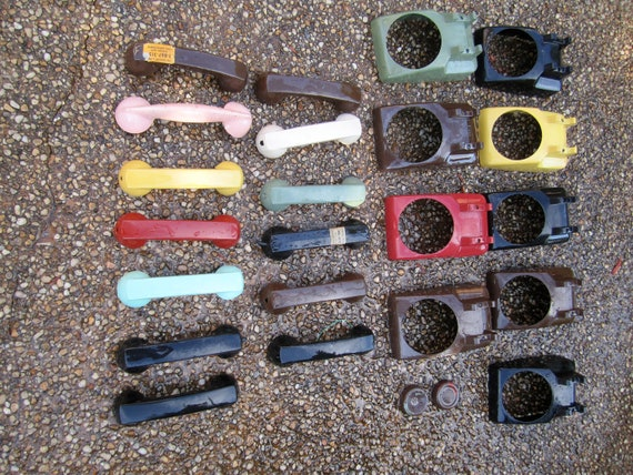Rotary Telephone Parts Lot