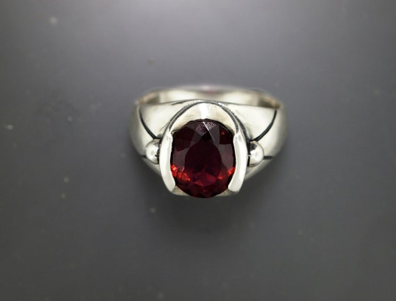 Raspberry Tourmaline Ring in Sterling Silver