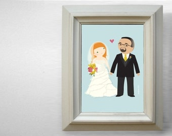 Wedding Cartoon Portrait (full length)