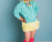 Lace ruffle shorts bloomers for toddlers and girls - Yellow Lace Ruffle Sugar Bottoms - Cotton NB (4-5 years)