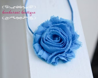 blue headband, newborn headband, infant headband,