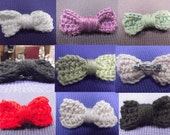 Hair Bow Clips - Black, White, yellow, Red, Purple, Blue, and Pink - Already made READY TO SHIP