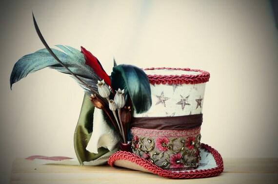Elizabeth's Mini top hat fascinator, birthday parties, Victorian, photos, pageants, holidays, Halloween, costumes, Halloween, Steampunk