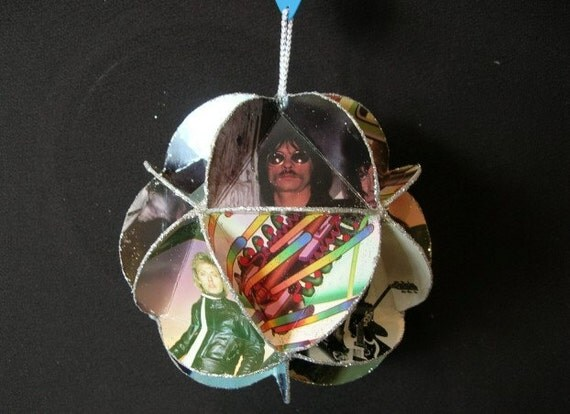 The Cars Band Album Cover Ornament Made Of Record Jackets - Ric Ocasek