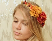 Autumn Harvest Crown - orange, yellow, rustic