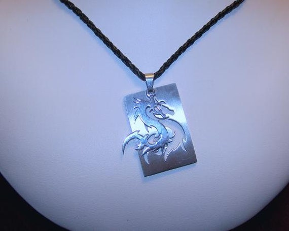 Double Dragon Tag Necklace