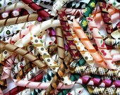 FALL COLORS - 100 Korker Pieces - Precut, Ends Heat Sealed, Ready to Use - 3/8 Grosgrain Ribbons