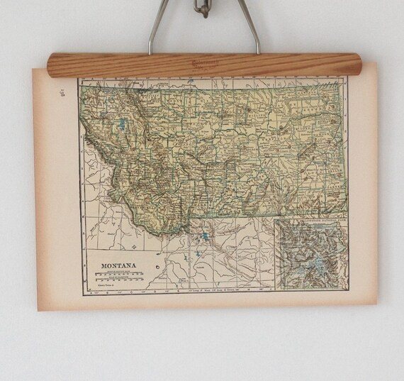 Antique Topographic Maps of Montana and Missouri