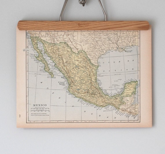 Antique Topographic Maps of Mexico and Central America