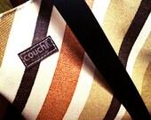 70's Car Seat Handbag, Made of  Chrysler '79 American Vinyl , Cool Racing Stripe Pattern