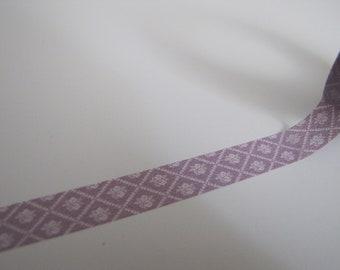 Washi Tape-Masking Tape-Single Roll-PiLight Purple Floral