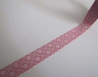 Washi Tape-Masking Tape-Single Roll-Pink Floral