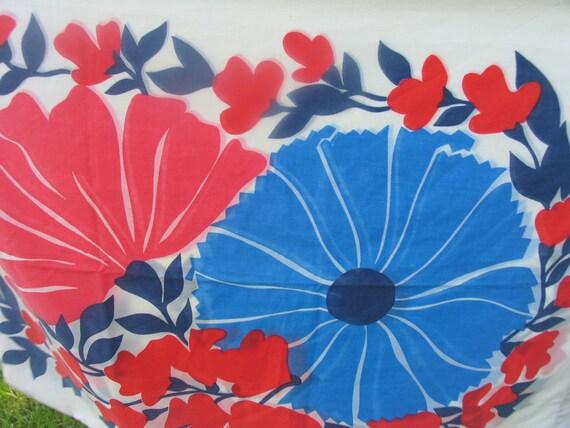 Pillowcase Standard Pillowcase 42 x 36 Floral Pillowcase Royal and Navy Blue and Red Floral Pillowcase