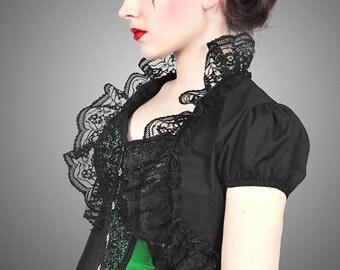Black lace bolero victorian goth pin up