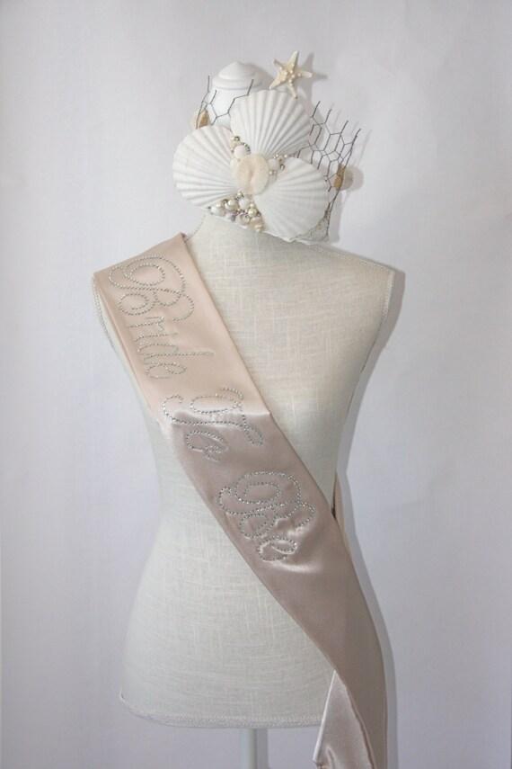 Bride To Be- Bachelorette Sash - Vintage Beige