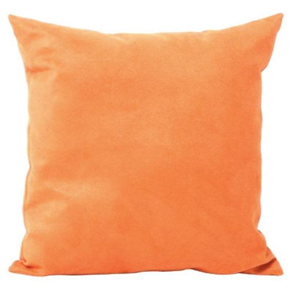 Solid Orange Cotton Decorative Pillow Cover - 3 Sizes Available