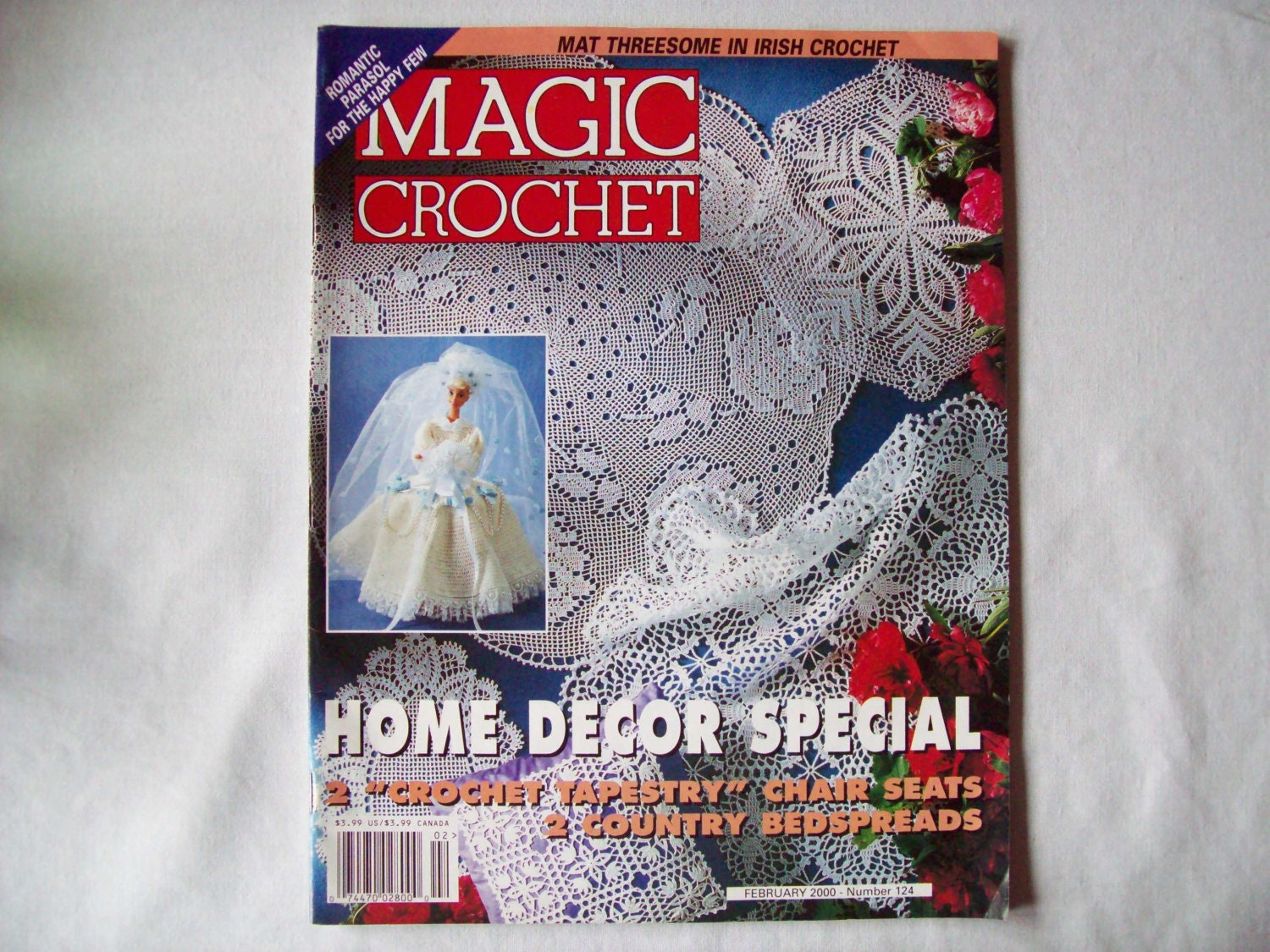 Magic Crochet Magazine February 2000 issue 124 by CozyHomeCrochet