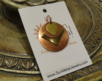 Sweet Heart gold and copper pendant (Style #1357C)