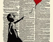 Print PosterBanksy 8x10 Dictionary Page Print  No. 1 / Buy One / Get One Free BOGO Print Poster