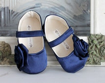 Baby Girl Shoes Toddler Girl Shoes Soft Soled Shoes Wedding Shoes Flower Girl Shoes Spring Shoes Summer Shoes Blue Wedding Shoes Satin Shoes