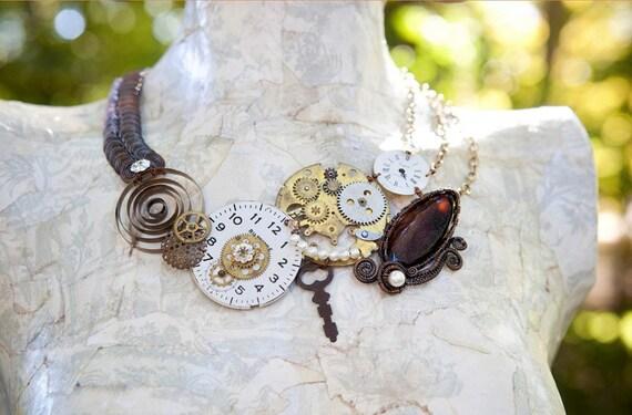 Reserved for Christyn - Clockwork Necklace