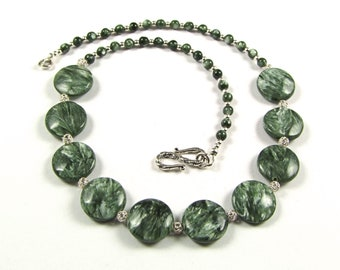 Seraphinite & Sterling Silver Necklace - N151