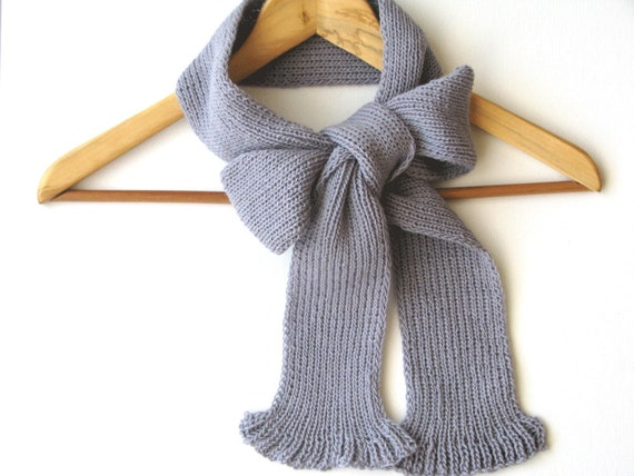 back to school knit wool scarf gray - woman accessories - AW 2012-13