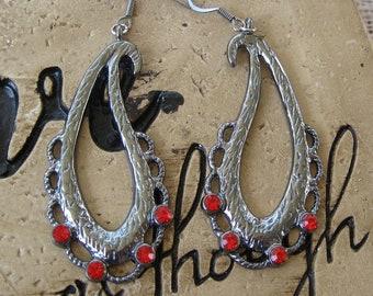 Paisley Rhinestone Earrings