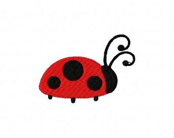 Small Ladybug Machine Embroidery Design // Joyful Stitches