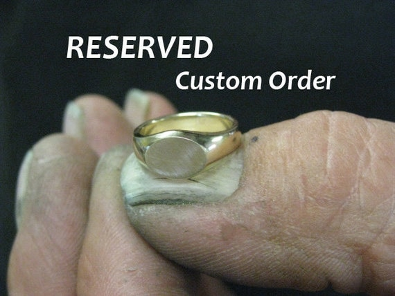 custom rose gold wedding band set -- reserved for Anna and Sean