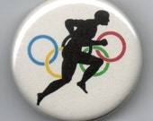 Olympic Runner  1.25 inch Pinback Button