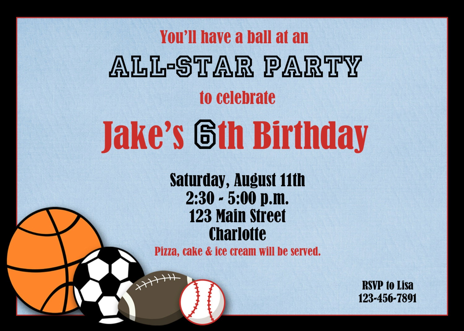 40th Birthday Ideas Free Printable Sports Birthday Invitation – Free Printable Sports Birthday Invitations