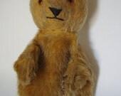 Vintage Mohair Bear Hand Puppet Primite Shabby Chic Adorable